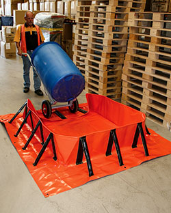 Collapsible bund wheeled trolley