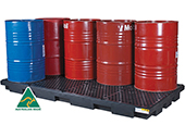 8 drum bund spill pallet low profile