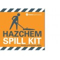 Hazchem spill kit label for bag spill kits