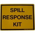 Spill response kit label
