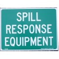 Spill Response Equipment sticker