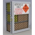 Aerosol can safety storage cage - 216 can capacity