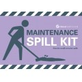 Maintenance spill kit label for wheelie bin