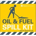 Oil and fuel spill kit label for bag spill kits