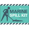 Marine spill kit label for wheelie bin
