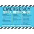 General purpose spill kit label for side of wheelie bin