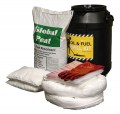 Spill kit - oil and fuel outdoor barrel